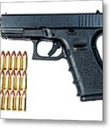 Glock Model 19 Handgun With 9mm Metal Print