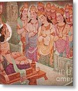 Gods Entertaining Mahavira Metal Print