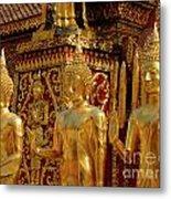 Golden Buddhas Metal Print