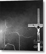 Good Friday - Crucifixion Of Jesus Bw Metal Print