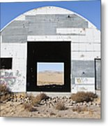 Graffiti On Abandoned Equipment Shed Metal Print by Paul Edmondson