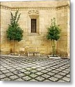 Granada Cathedral Doors And Other Details Metal Print