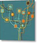 Graphic Tree Pattern Metal Print by Setsiri Silapasuwanchai