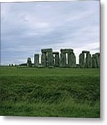 Gray Clouds Over The Ancient Ruins Metal Print