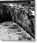 Great Falls Virginia Bw Metal Print