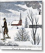 Great Snow Of 1717 Metal Print