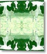 Green Cows Metal Print