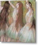 Green Dancers Metal Print by Edgar Degas