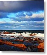 Green Point Seascape Metal Print