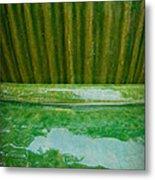 Green Pottery Metal Print