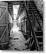 Grim Cell Block In Philadelphia Eastern State Penitentiary Metal Print