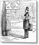 Grover Cleveland Cartoon Metal Print