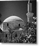 Hala Sultan Tekke Mosque Larnaca Republic Of Cyprus  Metal Print