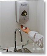 Hand Washing Metal Print