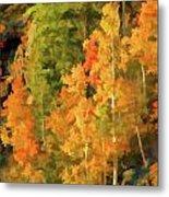 Hang Gliding The Autumn Colors Metal Print