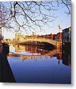 Hapenny Bridge, River Liffey, Dublin Metal Print
