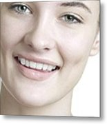 Happy Young Woman Metal Print
