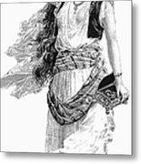 Harem Woman. 19th Century Metal Print