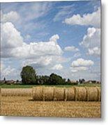 Harvest Time In France Metal Print