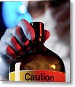 Hazardous Chemical Metal Print