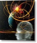 Head In Space Metal Print by Mehau Kulyk