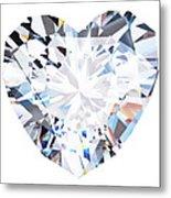 Heart Diamond  Metal Print