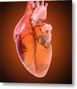 Heart Of Glass Metal Print