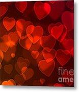 Hearts Background Metal Print