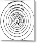 Heliocentric Universe, Copernicus, 1543 Metal Print
