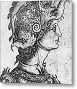 Helmet, 15th Century Metal Print