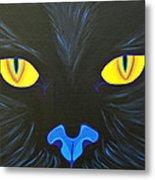 Here Kitty Metal Print