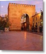 Historic Door In Granada Elvira Arch Metal Print
