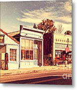 Historic Niles District In California Near Fremont . Main Street . Niles Boulevard . 7d10676 Metal Print by Wingsdomain Art and Photography