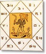 Horoscope Types, Engel, 1488 Metal Print