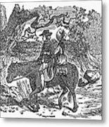 Horseback Riding Metal Print
