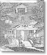 House / Home Rendering Metal Print