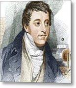 Humphry Davy, English Chemist Metal Print