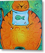Hungry Cat Metal Print by Jennifer Alvarez