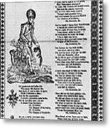Hunters Of Kentucky, 1815 Metal Print