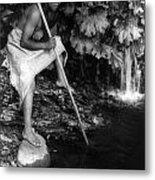 Hupa Fisherman, C1923 Metal Print