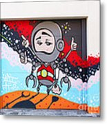I Want To Go Into Space Man Metal Print