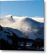 Illuminated Winter Landscape By The Sun Metal Print