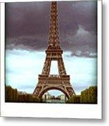 Illustration Of Eiffel Tower Metal Print