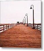 Imperial Beach Pier Metal Print