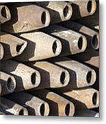 Inert Artillery Shells Are Stacked Metal Print