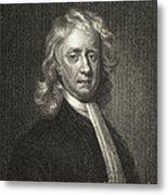 Isaac Newton, English Polymath Metal Print