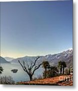 Islands On An Alpine Lake Metal Print