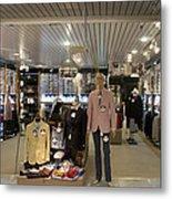 Italian Fashion Shop For Men Tallinn Metal Print