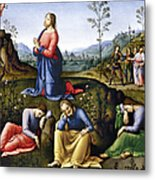 Jesus: Agony In The Garden Metal Print