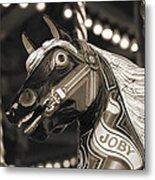 Joby The Carousel Horse Metal Print